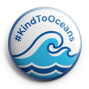 Eco friendly Kind To Oceans pin badge