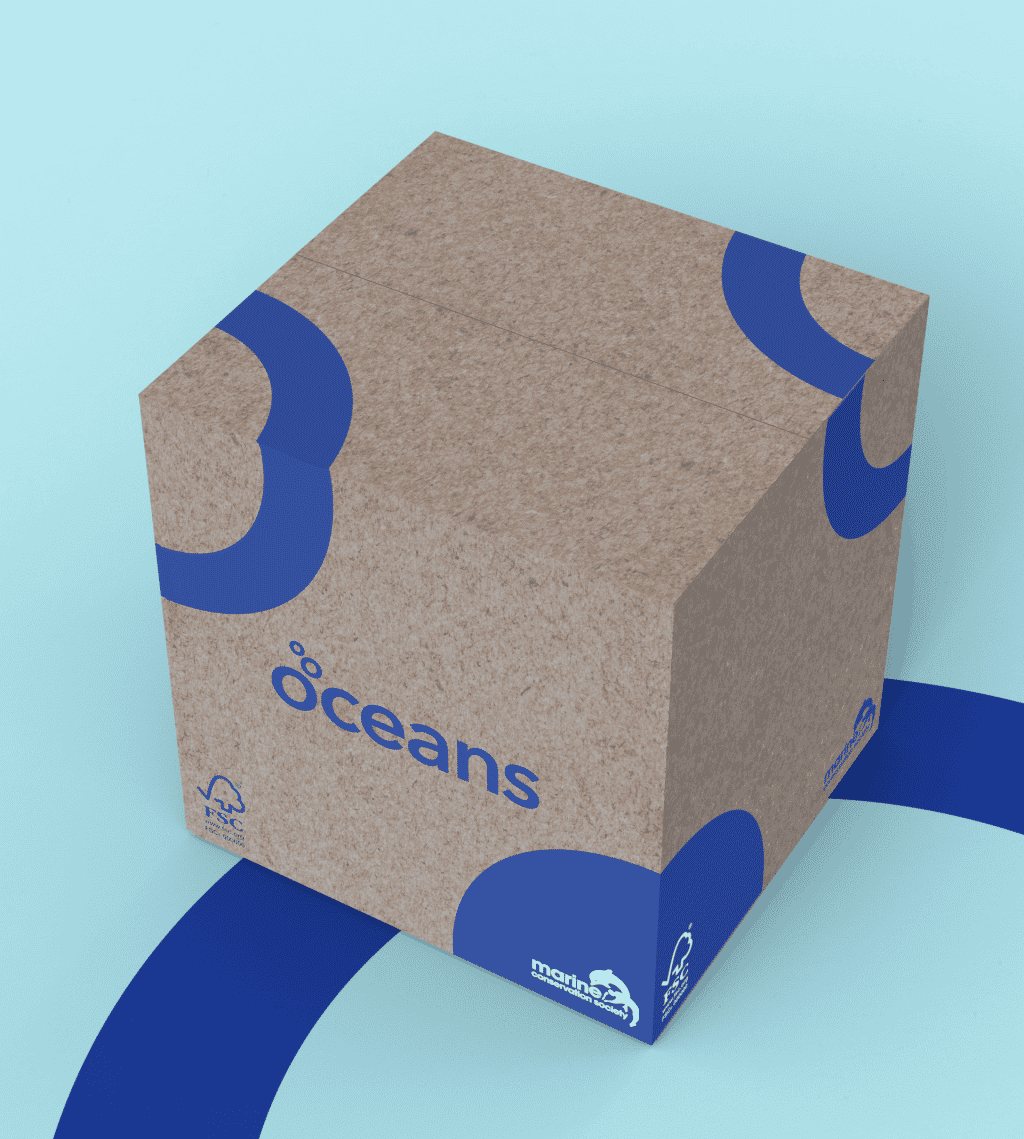 Oceans toilet roll recyclable packagaing