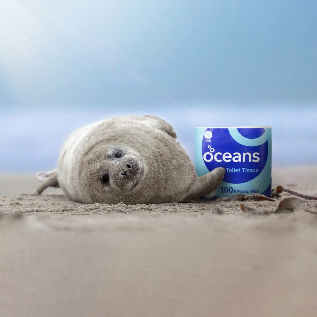 Seal with Oceans plastic free toilet tissue
