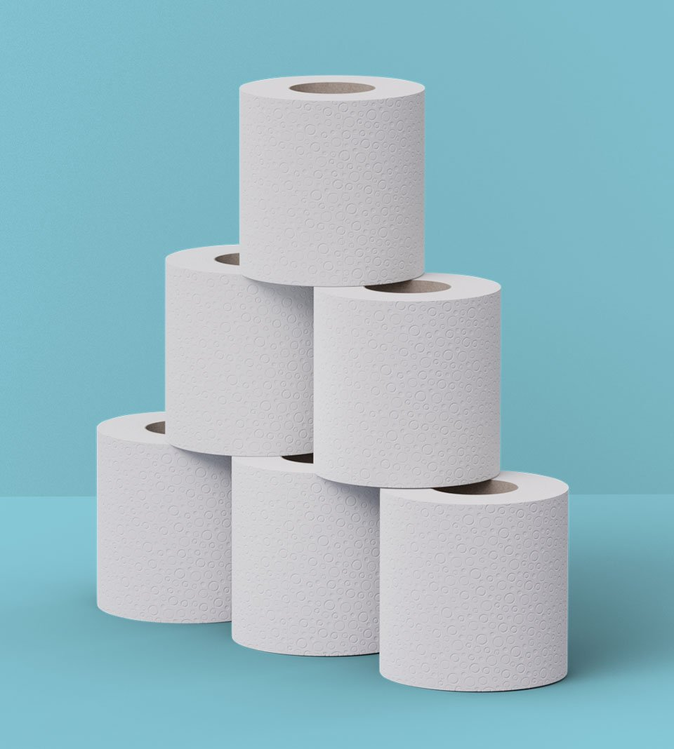 Stack of Oceans toilet roll